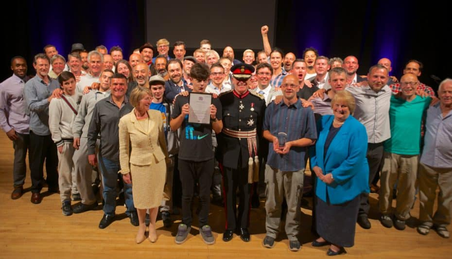 The aBoB community, the Lord Lieutenant and his two Deputies